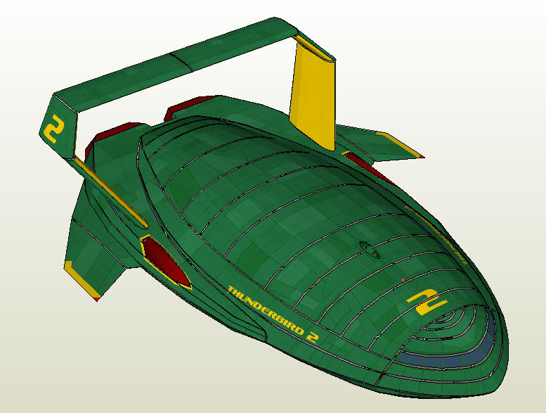 Thunderbird 2 Paper Model by Master-Bruce