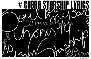 Cobra Starship Lyrics Brushes by thaispm2