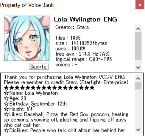 Lola Wylington VCCV ENG [Discontinued]