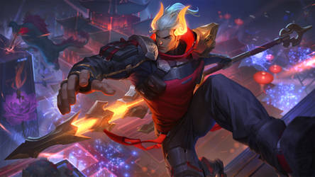 Lunar Beast Jarvan IV- League of Legends Splash