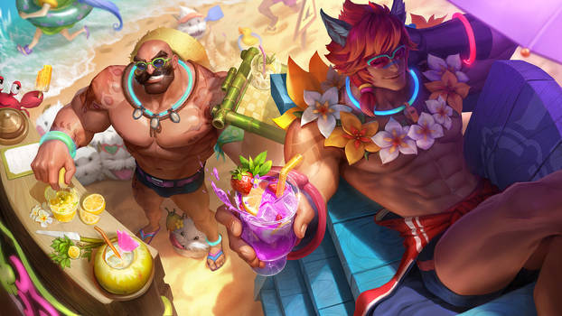 PoolParty Braum and Sett-League of Legends Splash