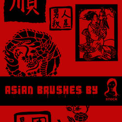 Asian brushes by SiLv3rDu5t-stock