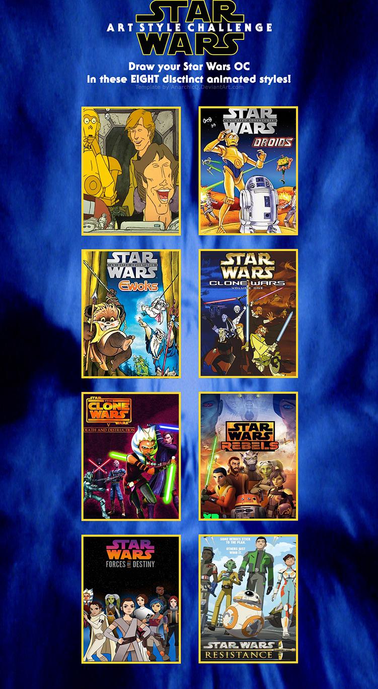 Star Wars Art Style Challenge template