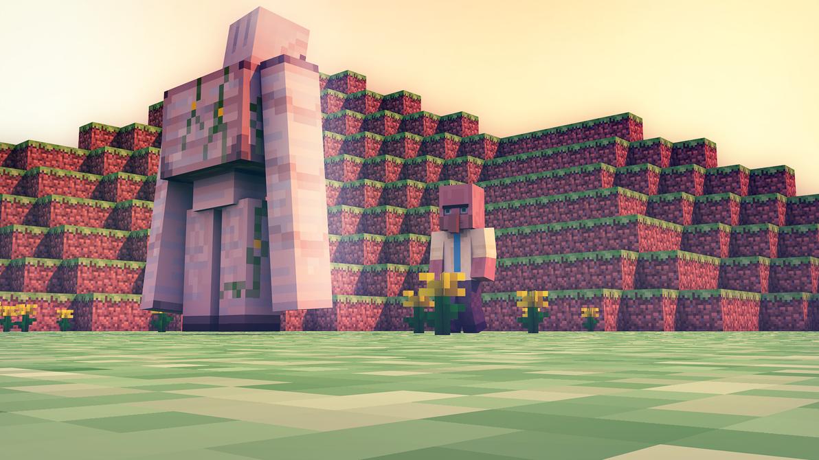 Minecraft Real Life Villager Cinema 4d minecraft villager