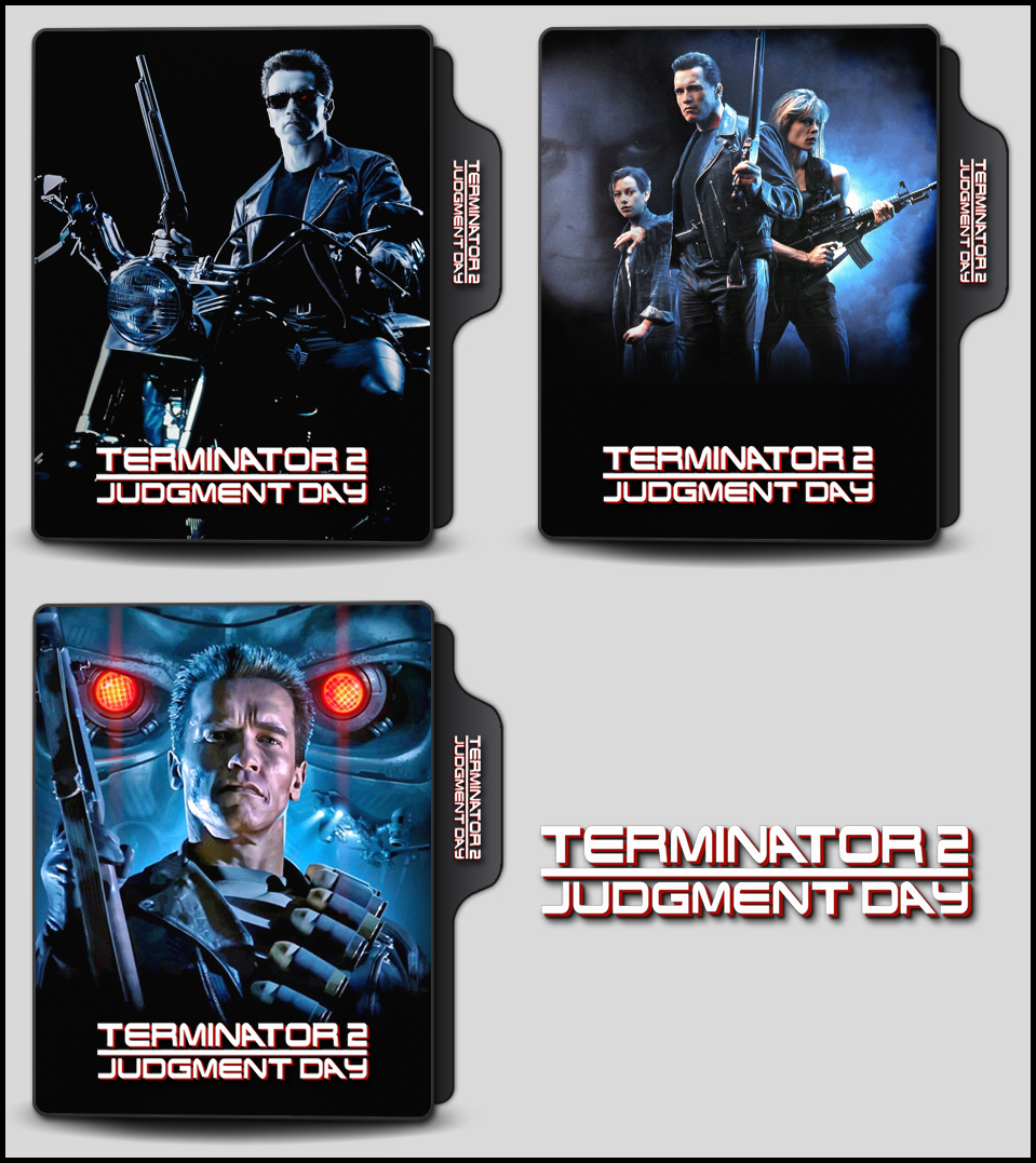 Terminator 2 Judgment Day 1991 Folder Icons By Onlystylematters On Deviantart