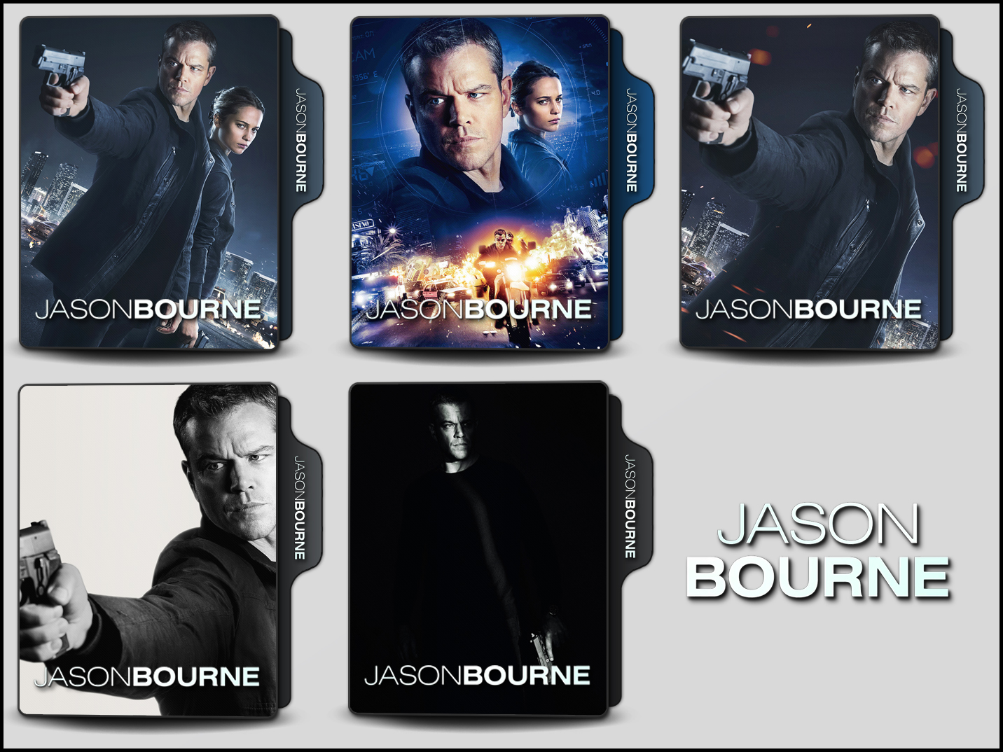 Jason Bourne 2016 Folder Icons By Onlystylematters On Deviantart