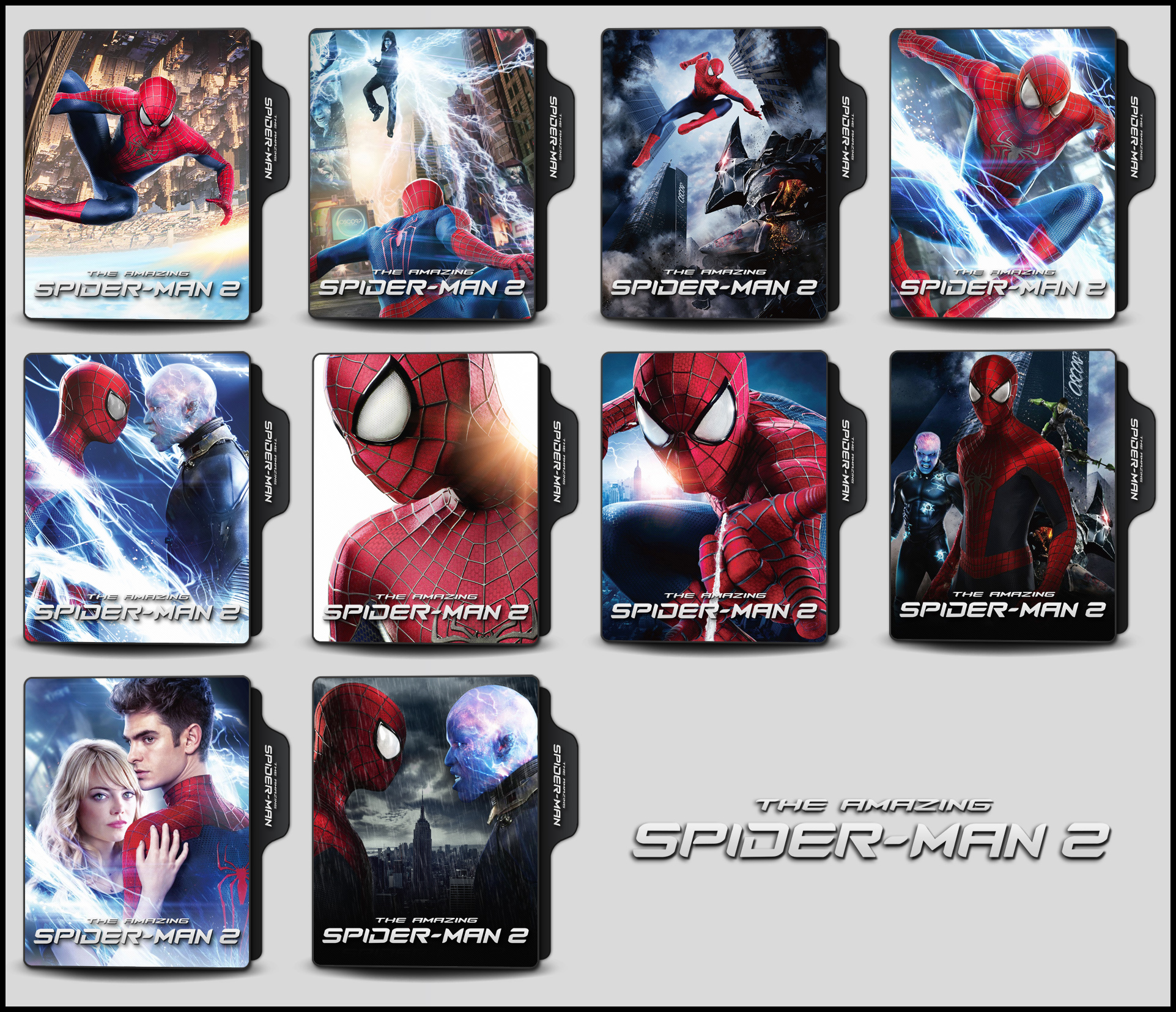 The Amazing Spider Man 2 2014 Folder Icons By Onlystylematters On Deviantart