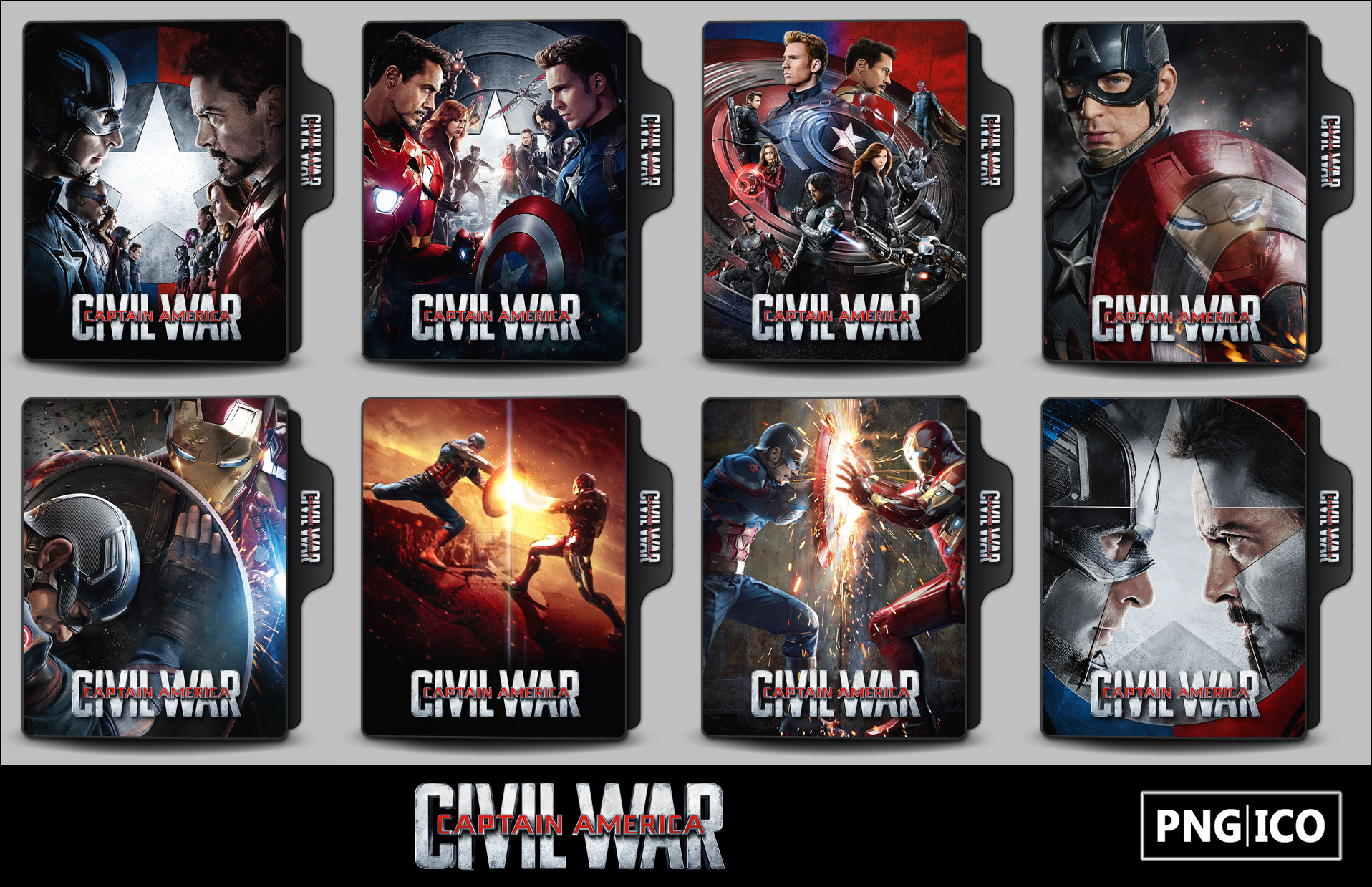 Captain America Civil War 2016 Folder Icons By Onlystylematters On Deviantart