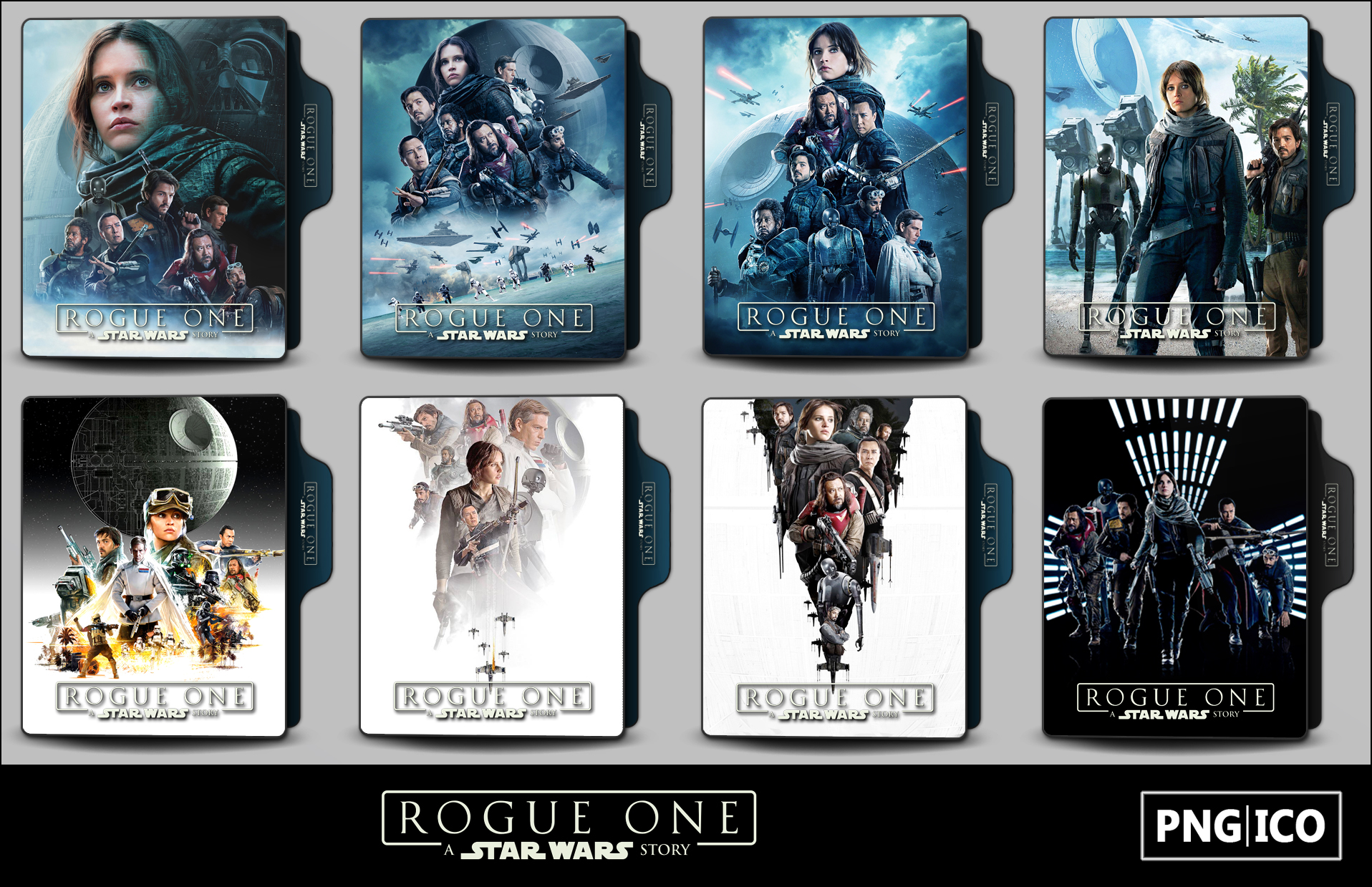 Rogue One A Star Wars Story 2016 Folder Icons By Onlystylematters On Deviantart