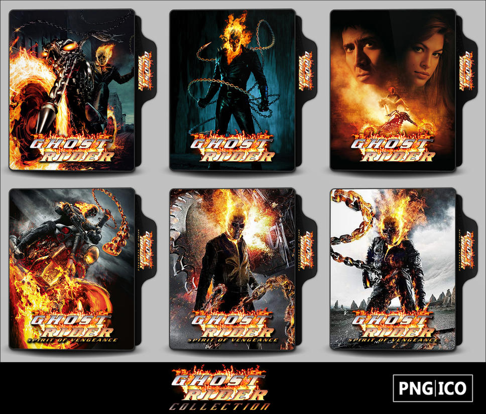 Ghost Rider Collection Folder Icons by OnlyStyleMatters