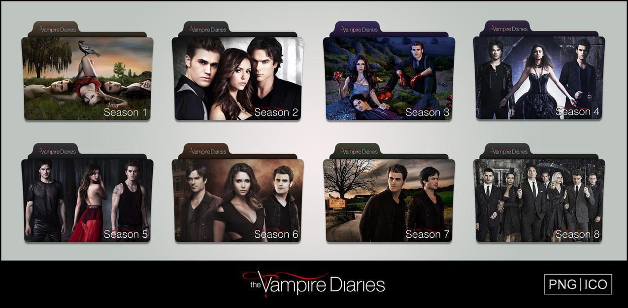The Vampire Diaries (2009-2017) Folder Icons by OnlyStyleMatters