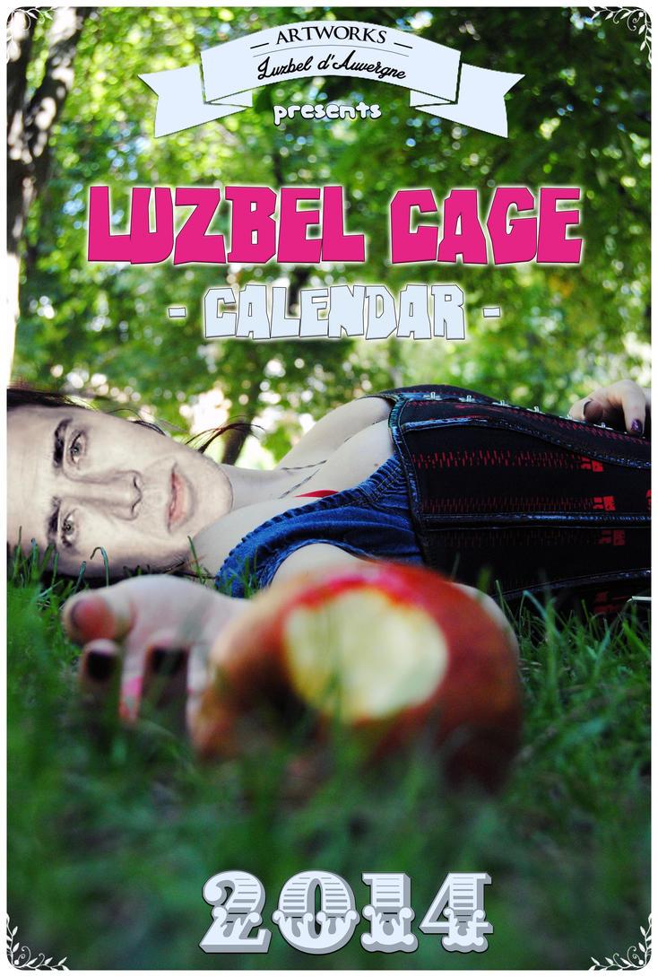 Luzbel Cage calendar-Thanks for the 100  FB Likes! by LuzbeldAuvergne