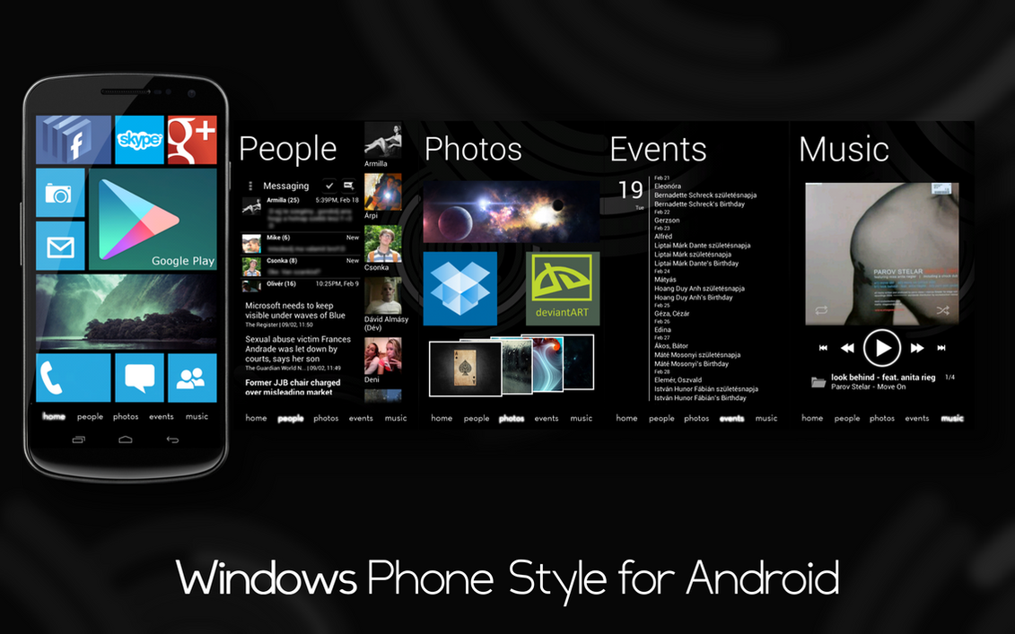 Phone Windows Phone And Android windows phone style for android by spiritdsgn on deviantart spiritdsgn