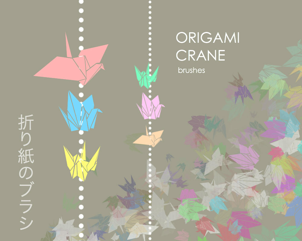 Origami Crane brushes by shinkui