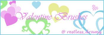 Valentine Brush Set by Keoni-chan