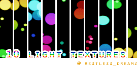 10 colored light textures by Keoni-chan