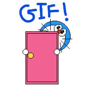 Doraemon: Animated GIF, anywhere door