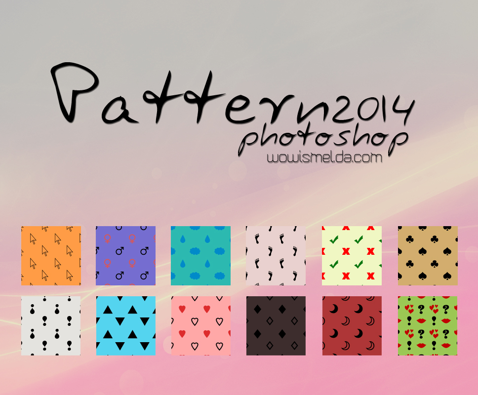 - Patterns photoshop 2014 - by WowisMel
