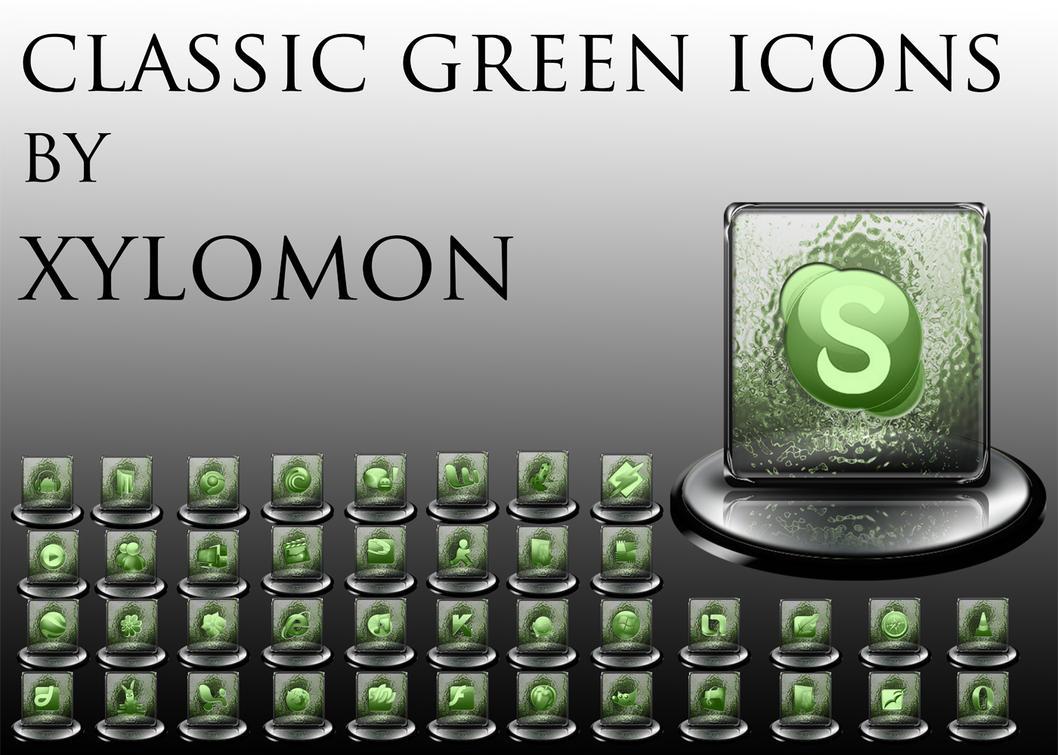 classic green icon set by xylomon