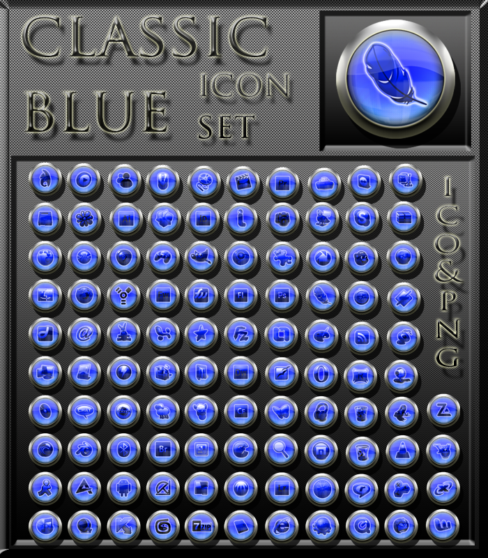 classic blue iconset by xylomon