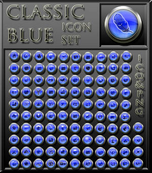 classic blue iconset