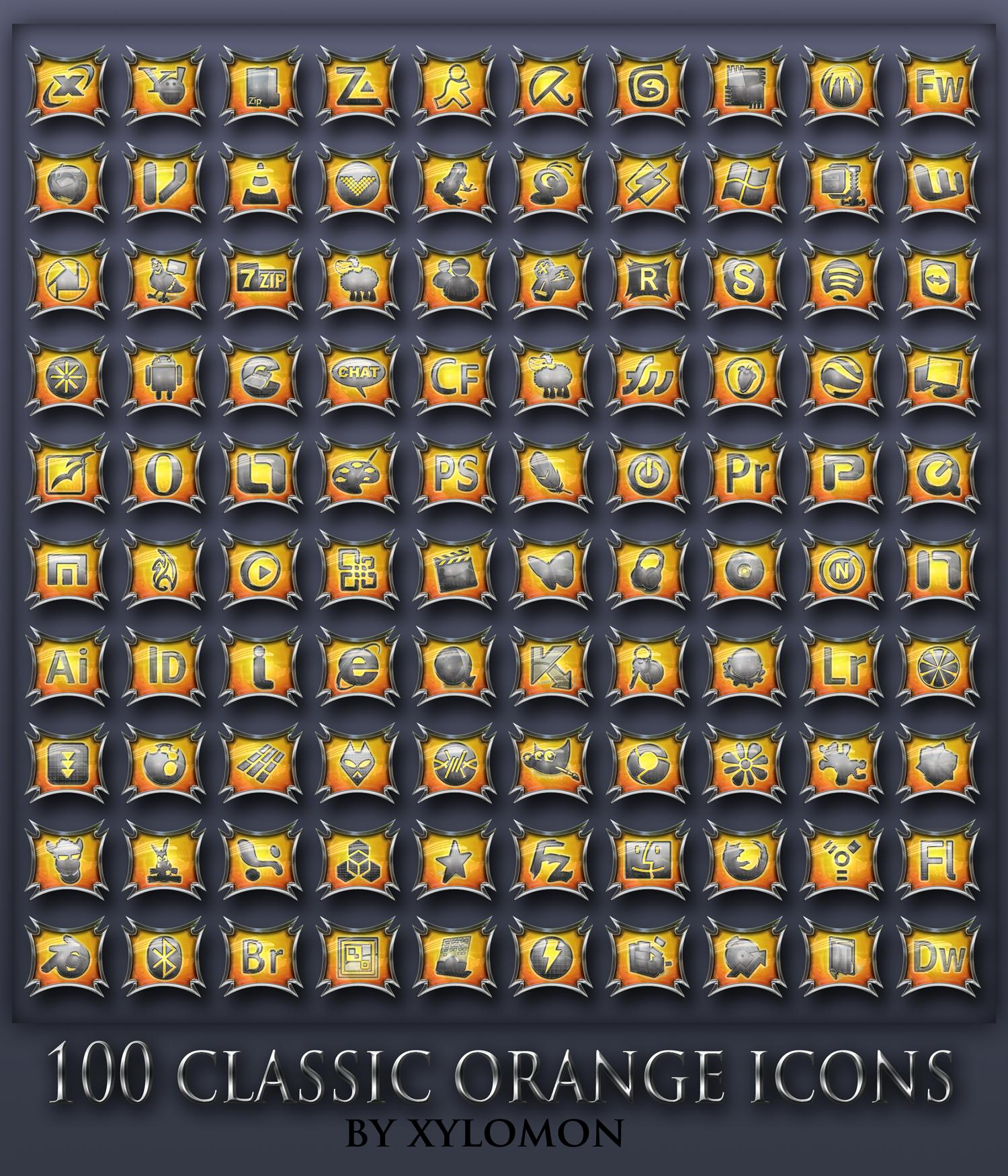 classic orange icons by xylomon