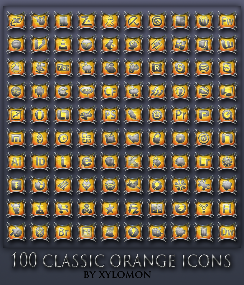 classic orange icons by xylomon