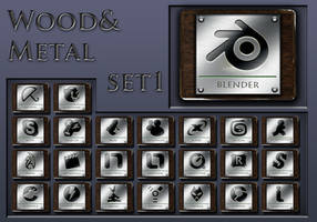 wood and metal   set 1 by xylomon