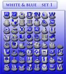 white and blue icon set 1
