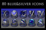 silver and blue collection