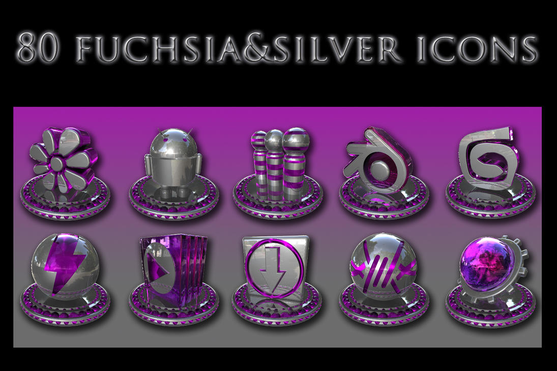 Fuchsia And Silver Collection By Xylomon On Deviantart