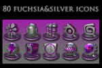 fuchsia and silver collection
