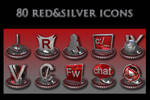 red and silver collection