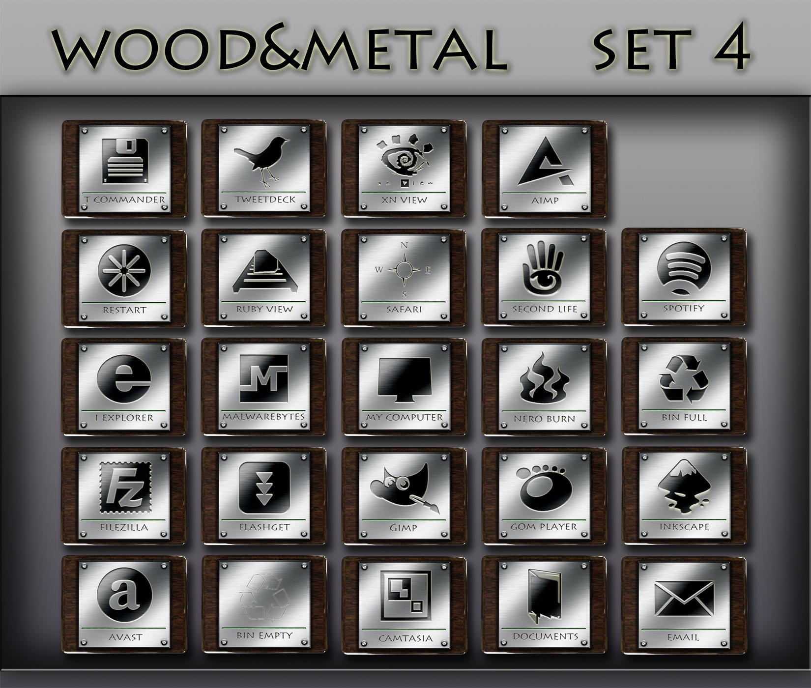 wood and metal   set 4 by xylomon
