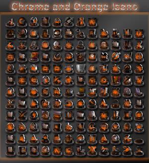 chrome and orange icons
