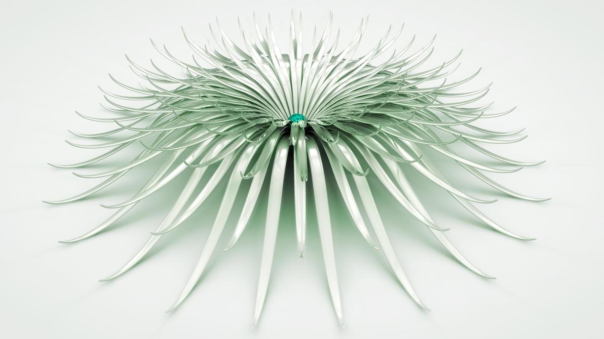 white flower by xylomon