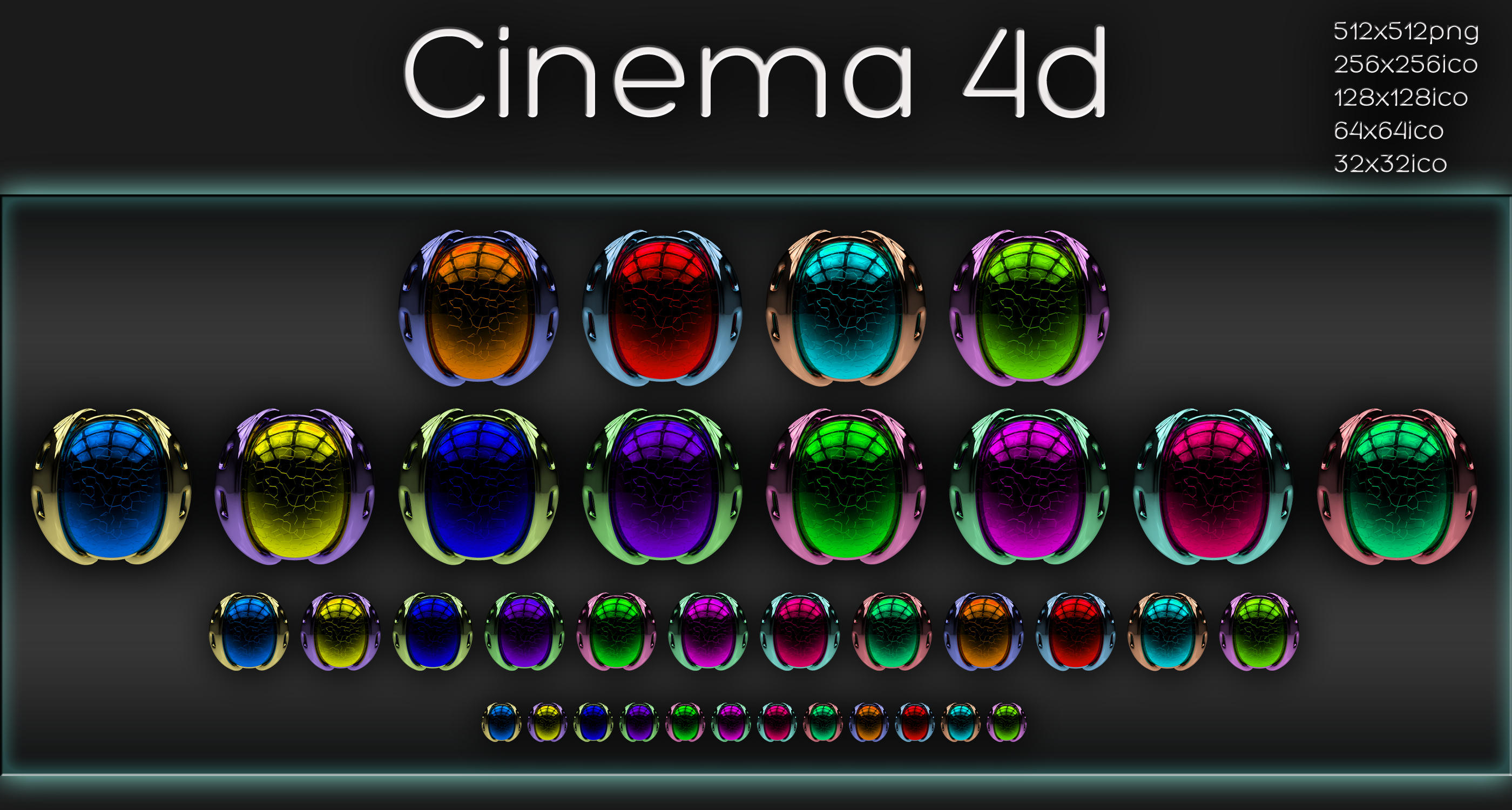 Cinema 4d icons by xylomon