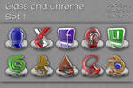 glass and chrome icons   set 1
