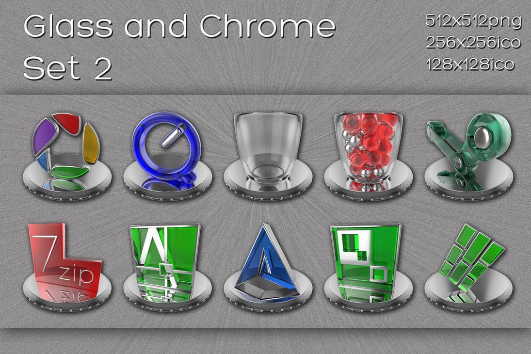 glass and chrome icons   set 2 by xylomon