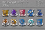 glass and chrome icons   set 3