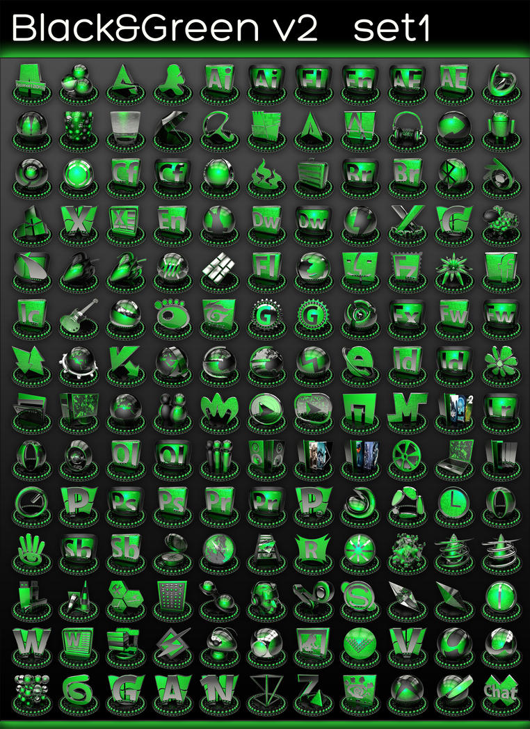 black and green v2 set 1 by xylomon