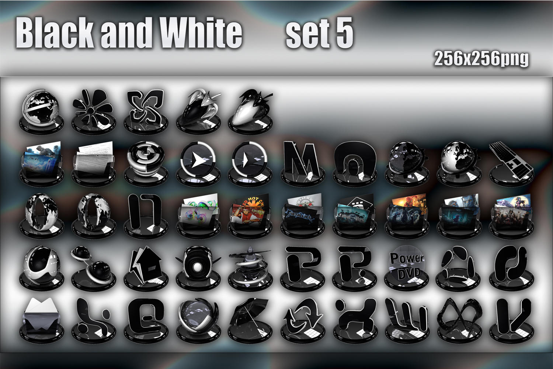 Black and White set 5 by xylomon