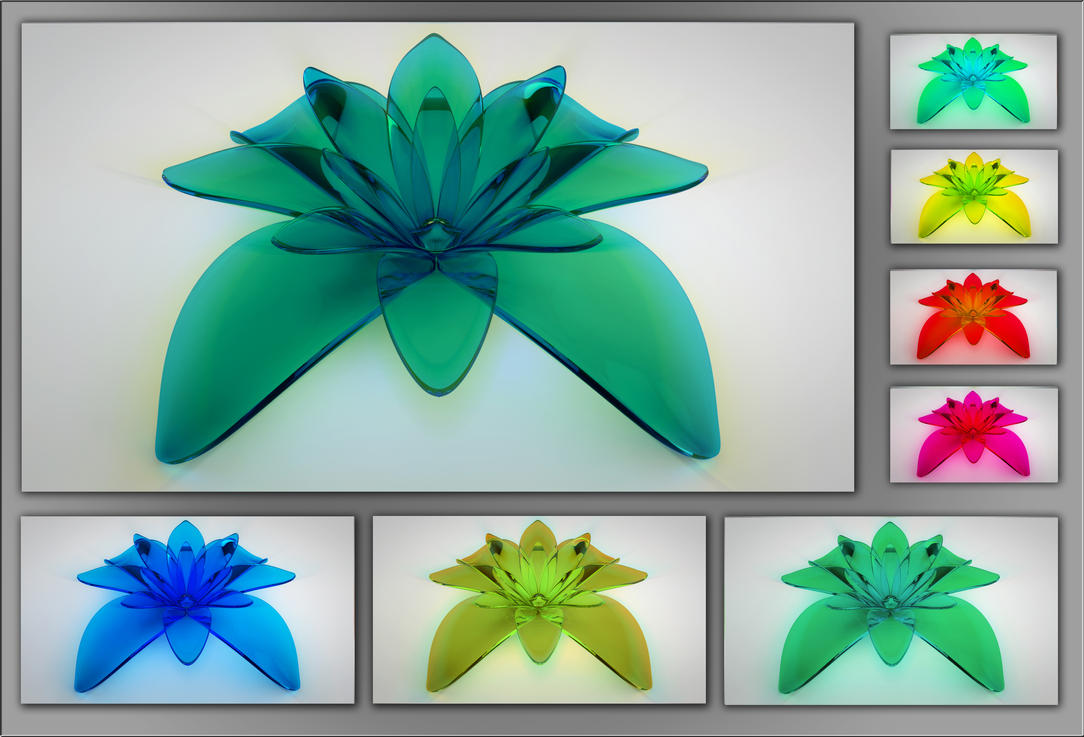 glass flower by xylomon