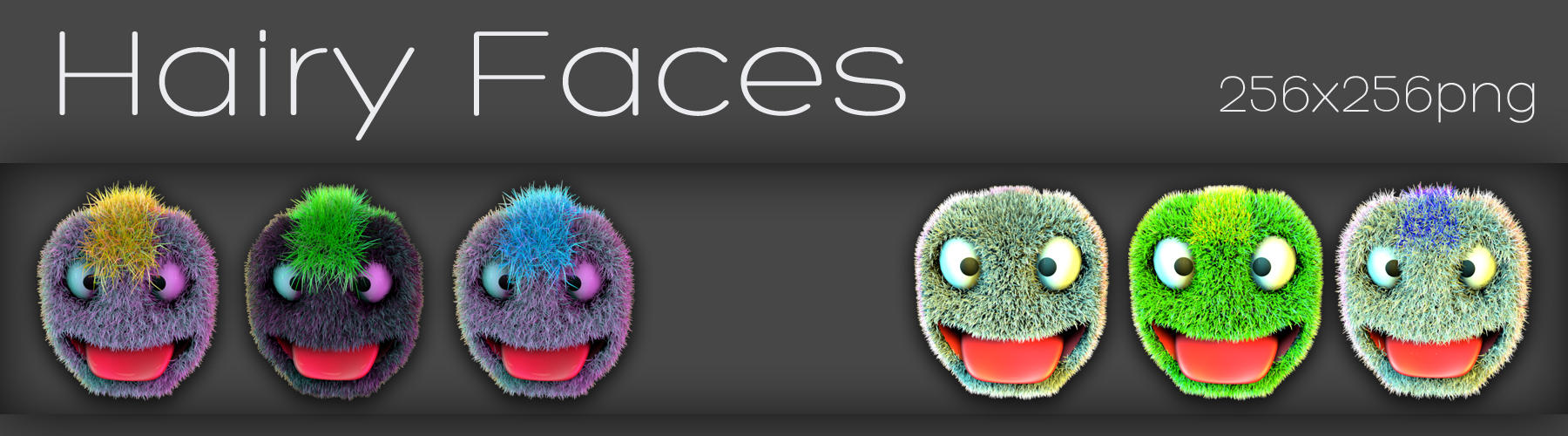 hairy faces by xylomon