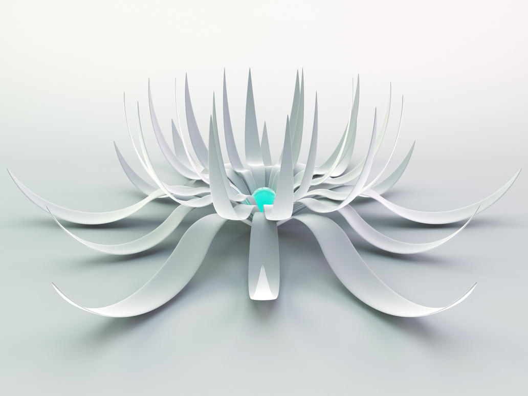white flower 2 plus c4d file by xylomon