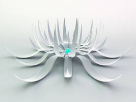 white flower 2 plus c4d file by xylomon
