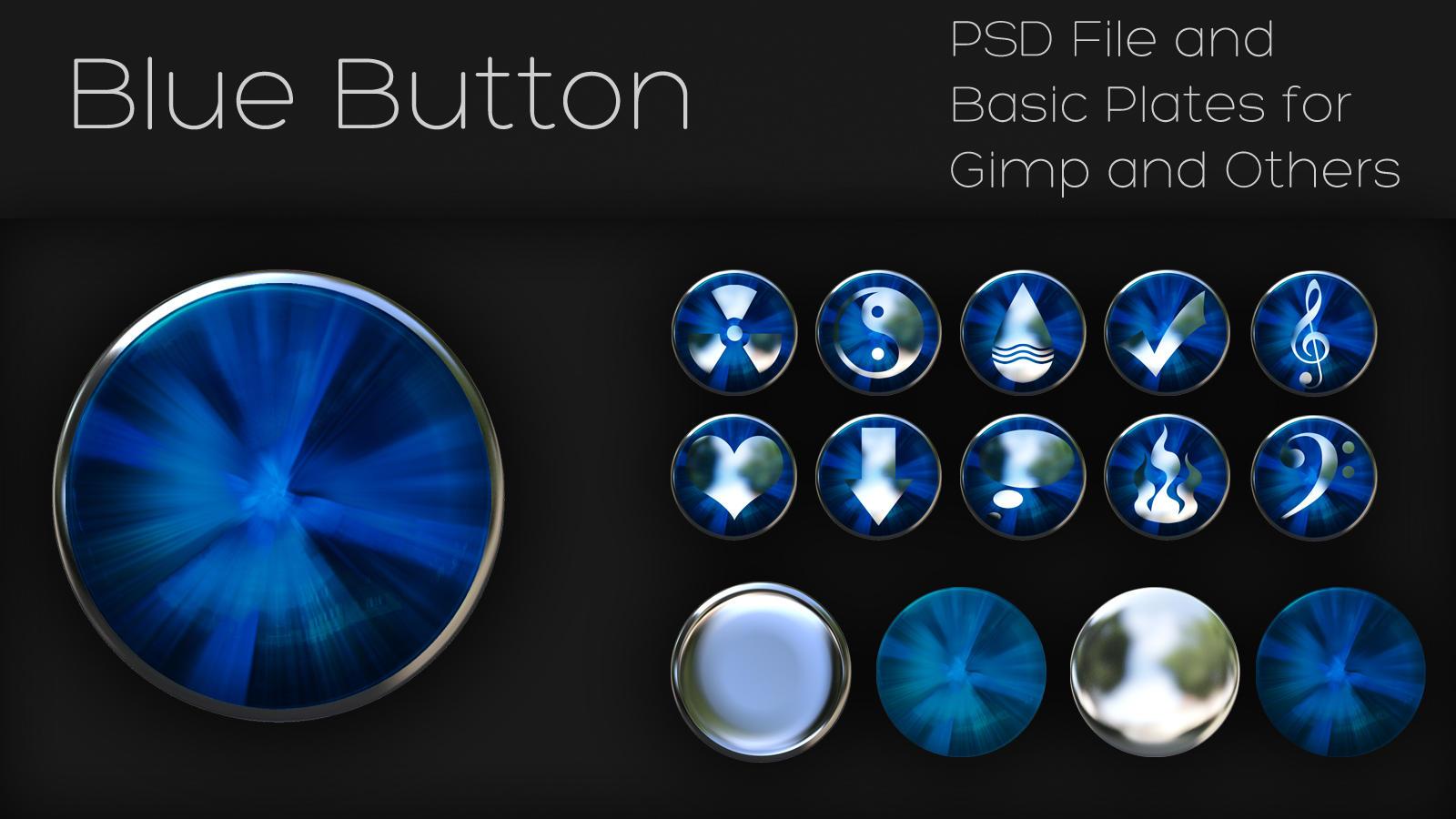 blue button by xylomon