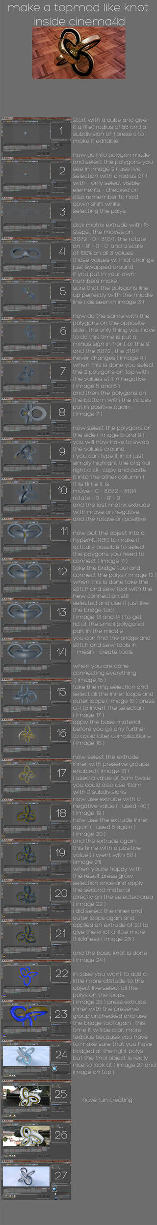 topmod like knot tutorial in cinema 4d by xylomon