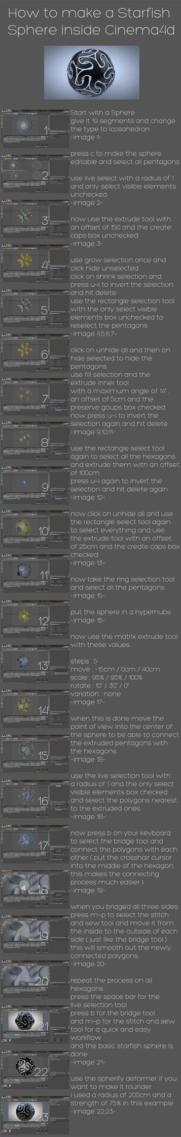 starfish sphere tutorial by xylomon