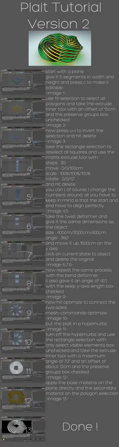 plait tutorial version 2